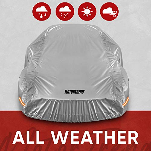 Motor Trend SafeKeeper All Weather Car Cover - Advanced Protection Formula - Waterproof 6-Layer for Outdoor Use, for Sedans Up to 170' L (OC-642N), Gray