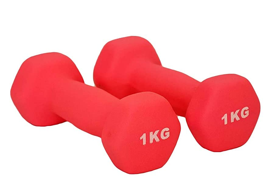 エキゾチック有彩色の闇【Hilax】エクササイズ用 カラフルダンベル 【左右2個セット】1kg/1.5kg/2kg/2.5kg/3kg