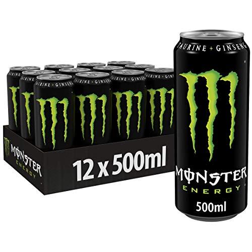 Monster Energy Lattina, Energy Drink, Energia, Eccitante, con Taurina e Caffeina 0,5 l