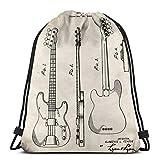 Fender Precision Bass Guitar Us Patent Art Pullover Hoodie Drawstg Bag Sports Fitness Bag Travel Bag Gift Bag