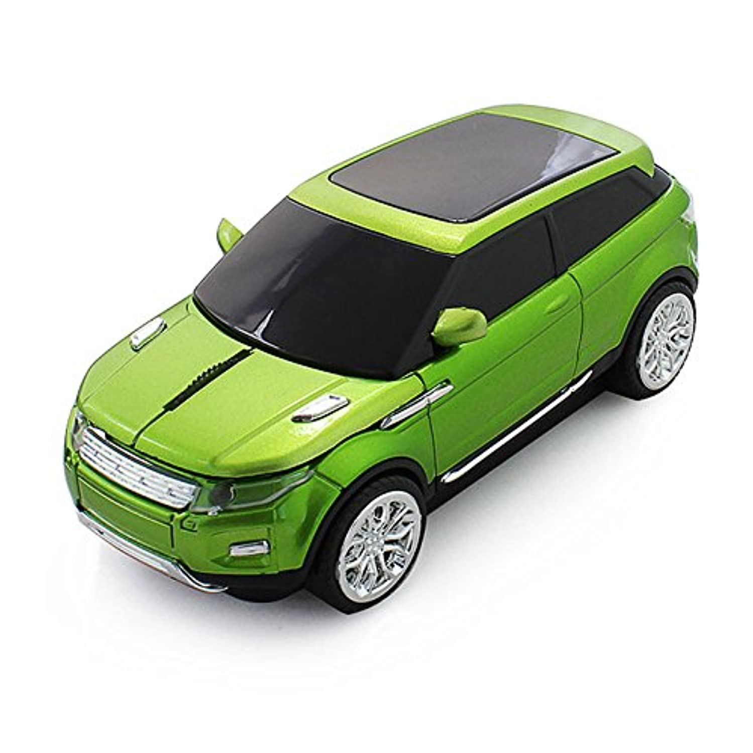 CHUYI 2.4GHz Wireless Mouse Cool Sport SUV Car Shape Optical Mouse 1600DPI SUV Gaming Mice with USB Receiver for PC Computer Laptop (Green)