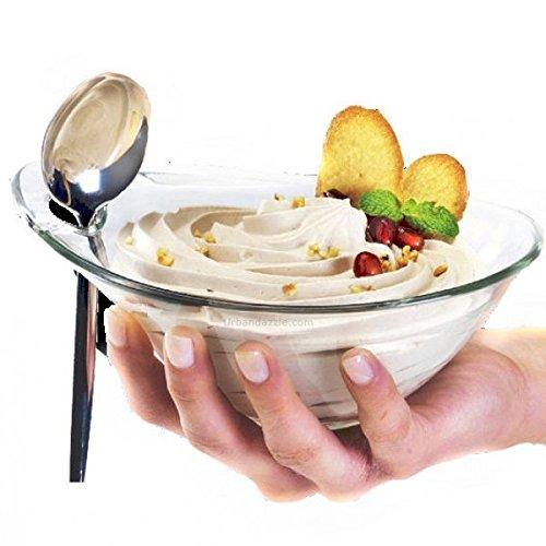 Pack de 6cuencos para helado o aperitivos cuencos de la gama Borgonovo cristales practica diámetro 14cm, fabricado en Italia