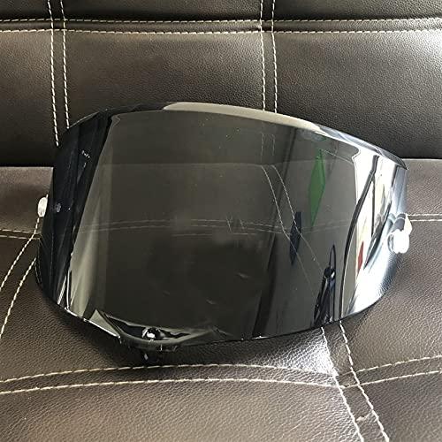 Adecuado AGV Pista GP RR Corsa R GPR 7 0o Aniversario Anti-explosión UV Protección Casco de Motocicleta Sun Visor Goggles Lens (Color : Negro)