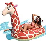 AirMyFun Inflatable Giraffe Pool Floats, Floaties Raft Lounge for Adult & Kids, Beach Floating Swim Tubes for Summer