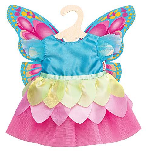 Heless 1030 Feenkleid für Puppen, Schmetterling, Größe 28-35 cm