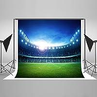 Kate 10x6.5ft(3x2m) サッカーのテーマ写真撮影の背景のサッカー場の写真の背景の綿の皺のカメラマンのための子供たちの背景 HJ04317