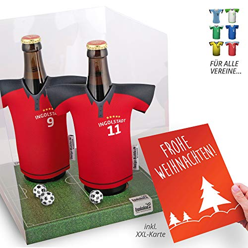 Weihnachts-Geschenk | Der Trikotkühler | Das Männergeschenk für Ingolstadt-Fans | Langlebige Geschenkidee Ehe-Mann Freund Vater Geburtstag | Bier-Flaschenkühler by Ligakakao