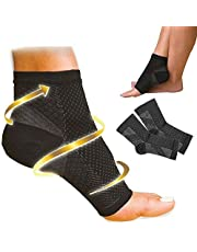 Plantar Fasciitis Foot Pain Compression Sleeve Heel Ankle Socks with Arch Support for Men & Women and Heel Pain Relief - Better Than Night Splint Brace, Orthotics, Inserts, Insole (S or M)