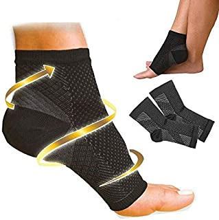 Plantar Fasciitis Foot Pain Compression Sleeve Heel Ankle Socks with Arch Support for Men & Women and Heel Pain Relief - B...