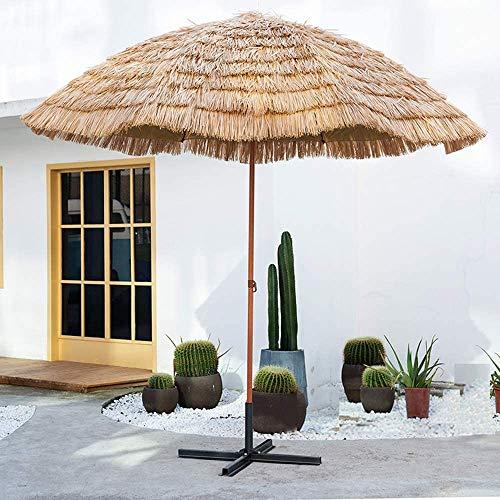 YRCWZF Straw Beach Parasol, 118in Tragbarer Höhenverstellbarer Winddichter Sonnenschirm, SträNde Partys Gartendekorationen Thatch Umbrella