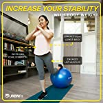 Ballon De Gym (Tailles Multiples) Ballon Suisse Pour La Forme Physique, La Stabilité, L'équilibre Et Le Yoga-Guide D'entraînement Et Pompe Rapide Inclus-Design De Qualité Professionnel Anti-Eclatement #2