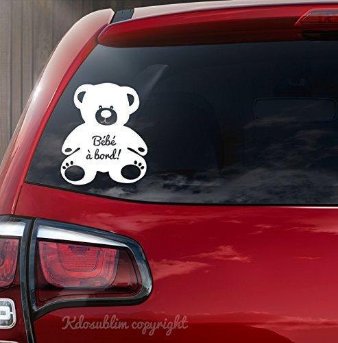 Stickers bébé à bord Ourson