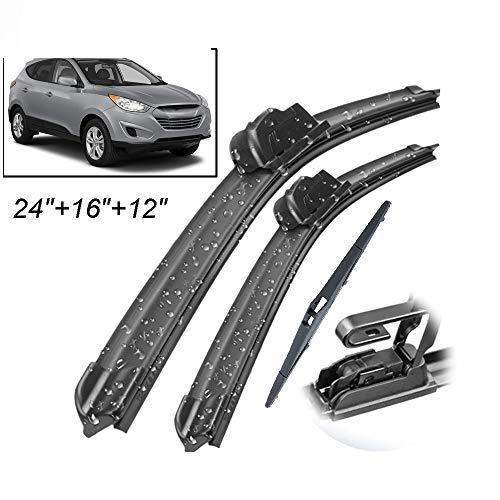 HZHAOWEI Ruitenwisser Voor Achter Ruitenwisserset Set, Voor Hyundai Tucson MK2 ix35 2010-2015 Voorruit Voorruit Achterruit 24