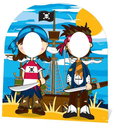 Star Cutouts Ltd falksson - Cartonati sin Rostro pequeños Piratas, 120 cm