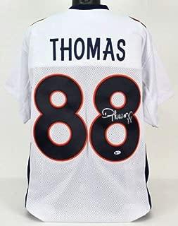 Demaryius Thomas Autographed Signed Denver Broncos Jersey Beckett Coa Current Patriots W.R