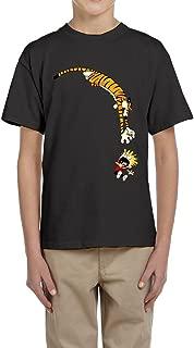 ENHEN Calvin and Hobbes Tiger Boys Cotton T Shirts Tees Jersey Short Sleeve