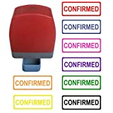color accounting - Confirmed Self Inking Rubber Stamp - Hot Pink Ink Color. Accounting. 31x10mm. with Rectangle line. Ready for use. Refillable.