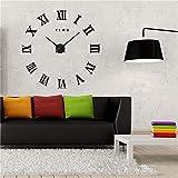 QianLei Reloj de pared 3D con espejo acrílico grande, reloj