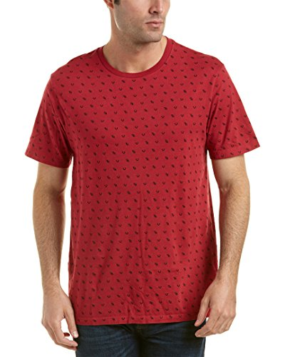 True Religion Ruby Red Monogram Crew Neck T-Shirt-Small