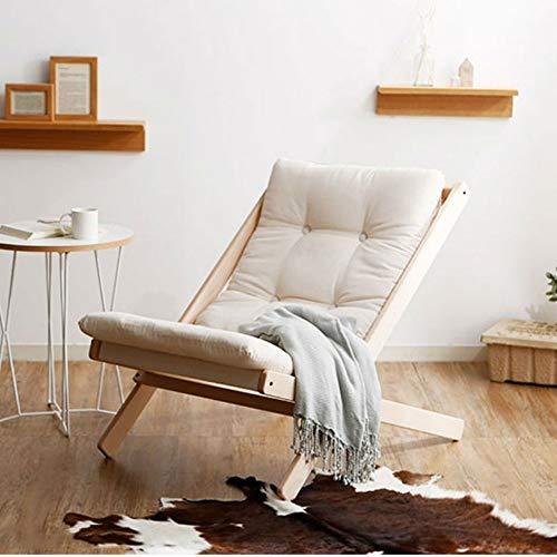BCX Silla plegable de madera maciza Silla plegable de estilo nórdico Silla de haya A ++,Blanco,A