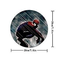 マウスパッド 丸型 ファッション 滑り止め ゴム製裏面 柔軟 かわいい ゲーミング オフィス PC作業に対応 個性的 おしゃれ スパイダーマン