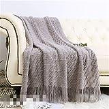 Phosphor Amerikanischer Stil Quaste gestrickte dekorative Wolldecke Sofadecke verwendet für...