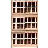 SBDLXY Birdhouses Dove Cage Set Caja de Nido de Madera Maciza Pigeon Racing Homing Pigeon Nest Pigeon Pairing Cage Pigeon Supplies Diseño de Puerta corrediza (Color: Brown-c, Tamaño: 80 * 40 * 45 c