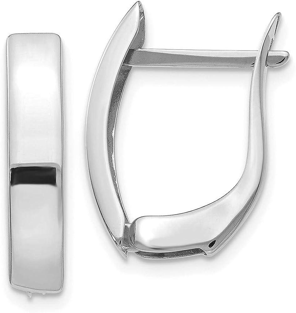 14k White Gold Hinged Post Stud Fine Hoops Set Earrings Finally popular brand Hoop Ear online shop
