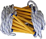 Escape Rope Ladder Emergency Fire Escape Rope Ladder 3/5/10/15/20/25/30M Flame Resistant Safety Rope Ladders with Hooks for Kids/Children and Adults Escape from Window and Balcon Compact & Reusable