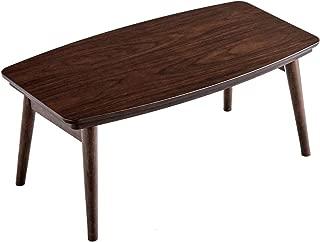 タンスのゲン 折りたたみ こたつテーブル 長方形 90×50cm 木目 UV塗装 コンパクト オールシーズン 丸角設計 ウォールナット調 ブラウン 21300130 00 【63450】