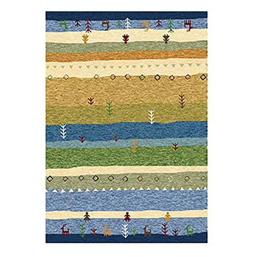 Printed Area Rug, Retro Runner Rug Anti-Slip Chic Floor Carpet Rectangular Washable Multicolor for Bedroom Living Room-i 79x118inch(200x300cm)