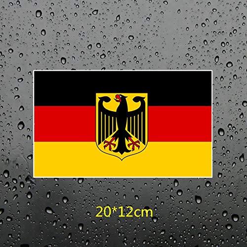 PJYGNK Sticker de Carro FTC-729# la Bandera de Alemania Escudo de Armas de Alemania Ventana Pared Dormitorio Motocicleta Coche Pegatina PVC