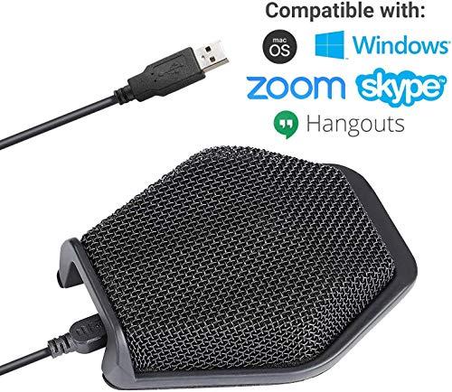 Movo MC1000 USB Tischcomputer Konferenzmikrofon mit 180 ° / 20 'Pickup Reichweite für Windows & Mac - Plug & Play