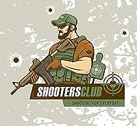 白で戦術的な陸軍の男の漫画枕カバー,戦術射撃特殊部隊スポーツクラブ屋内屋外の家の装飾のリビングルームの寝室のオフィスのための綿の枕カバー用クッションカバー50X70 CM