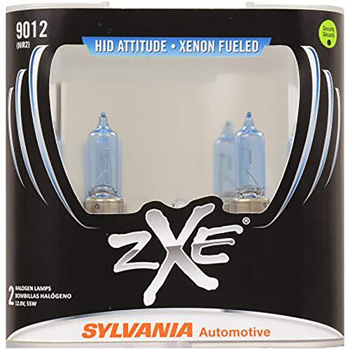 SYLVANIA - 9012 (HIR2) SilverStar zXe High Performance Halogen Headlight Bulb - Bright White Light Output, HID Attitude, Xenon Fueled Technology (Contains 2 Bulbs)