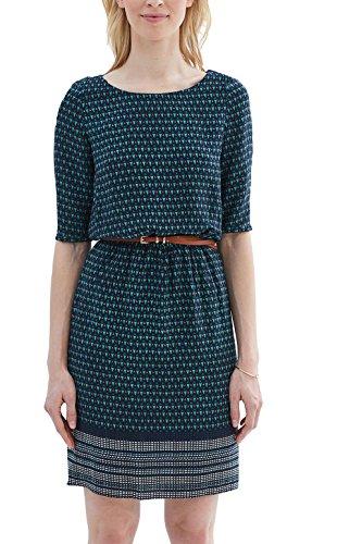 ESPRIT Collection Damen 037EO1E001 Kleid, Blau (Navy 400), 38