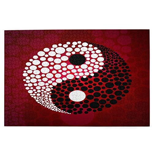 Minalo Rompecabezas de Imágenes 1000 Piezas,Símbolo Abstracto Ying Yang,Regalo Ideal Gracioso...