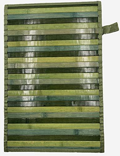 Eurostyle - Alfombra de bambú con base antideslizante Degrade (50 x 370 cm), color verde