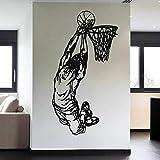ASFGA Jugador de Baloncesto Etiqueta de la Pared Equipo Deportivo de Baloncesto Juego de Baloncesto Etiqueta de la Pared Vinilo Dormitorio Juvenil decoración Cartel