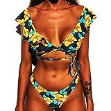 CheChury Mujer Sexy Conjunto De Bikini 2021 Verano Sexy Push Up Ropa De Playa Bikini de Triángulo Bikini Mujer Acolchado Traje de baño Mujer Conjunto De Bikini