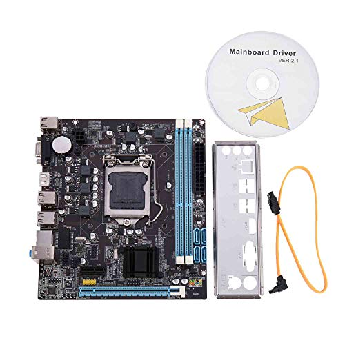 Nrpfell H61 Ordenador de Sobremesa Placa Base Placa Base 1155 Pin CPU Interface Upgrade Usb2.0 Ddr3 1600/1333 para Intel Core I7 / I5 / I3