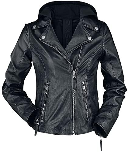 Gipsy Raja Slim Fit LEGV Frauen Lederjacke schwarz XXL 100% Leder Basics, Biker, Casual Wear