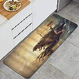 Alfombra de cocina, bestia angel leyenda animal cazador mito...