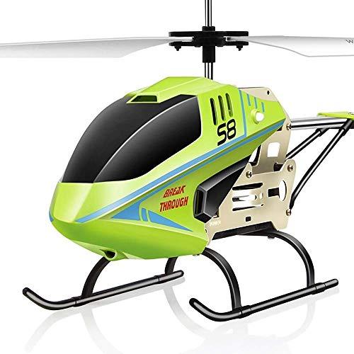 Toy Model Kids 'BestYear Weihnachten RC Flugzeug Geschenk Beständigkeit gegen fallende ferngesteuerte Flugzeuge 3,5-Kanal Eingebaute Gyro Child Electric RC Hubschrauber Modell LED-Leuchten (Farbe: Gr