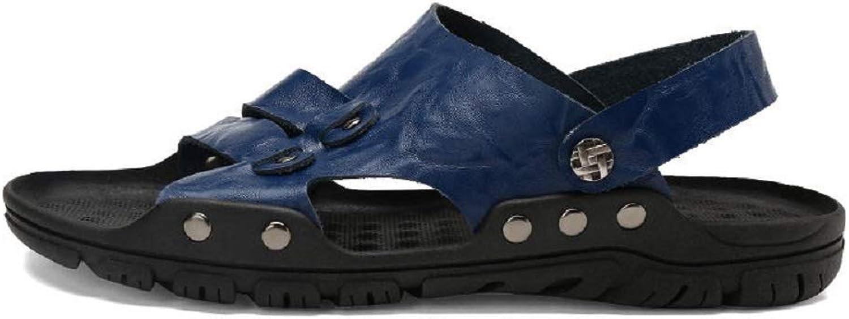 DDSHYNH Sommer Qualitt Echtes Leder Mnnliche Schuhe Für Mnner Sandalen Erwachsene Marke Lssig Zu Fu Komfortable Designer Sandale Mann