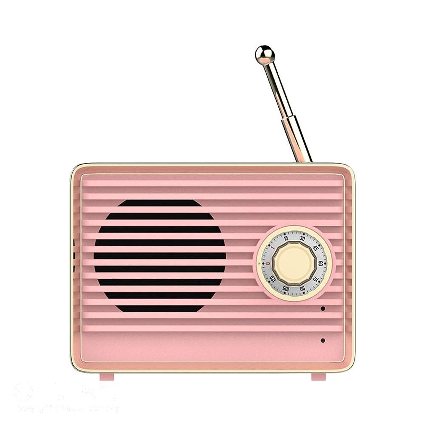 YsinoBear Wireless Retro Speaker with FM Radio, Portable Bluetooth Vintage Speaker with Built-in Mic, for Kitchen/Bedrooms/Desk/Shelf/Party/Travel Speaker