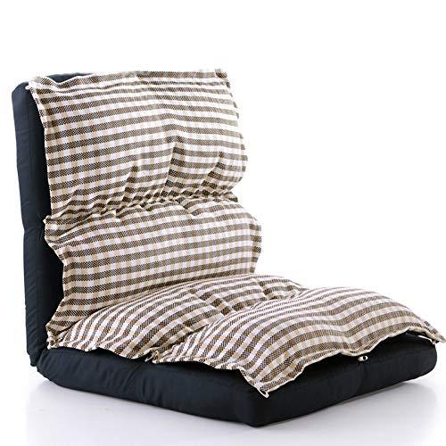 NYDZ Graygrid - Sofá plegable ajustable de 13 posiciones para juegos de suelo, sillón reclinable y ajustable, algodón transpirable y tela de lino
