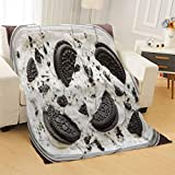 Vikes Luxury Lightweight Cozy Super Soft Blanket,Oreo (Cookies and Cream) Ice Cream,Cozy Throw Blanket for Bed Travel Couch,Throw Size 40Wx60L Inch