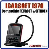 Interface de Diagnostic iCarsoft i970 Compatible avec véhicules Peugeot et Citroen - Diagnostic Tous Systèmes