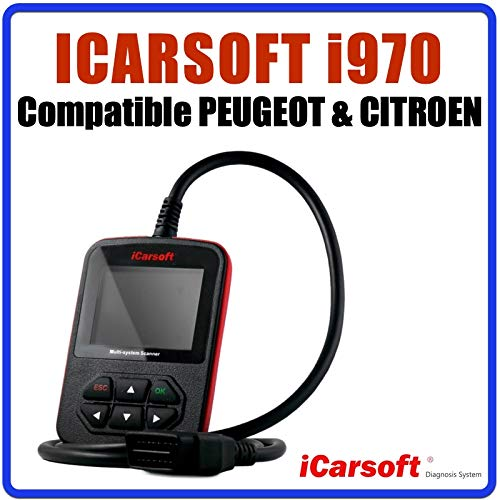 Diagnose-interface iCarsoft i970, compatibel met Peugeot en Citroën – diagnose voor alle systemen.